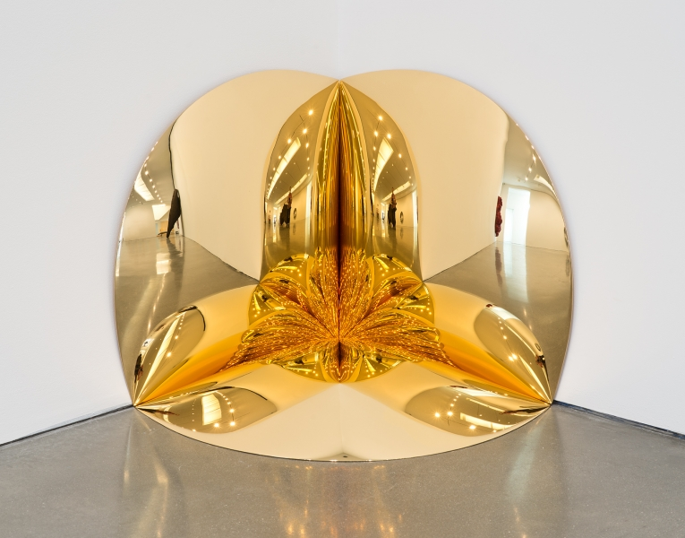 Gold Corner (2014), fiberglass and gold, 63.5 x 63.5 x 63.5 cm.